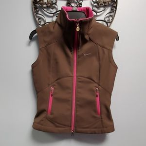 Nike Brown and Pink Athletic Vest
